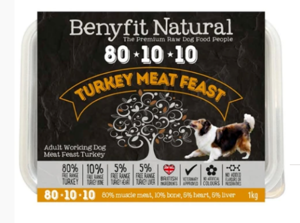 Picture of Benyfit Dog - Natural Turkey Meat Feast 80*10*10 1kg