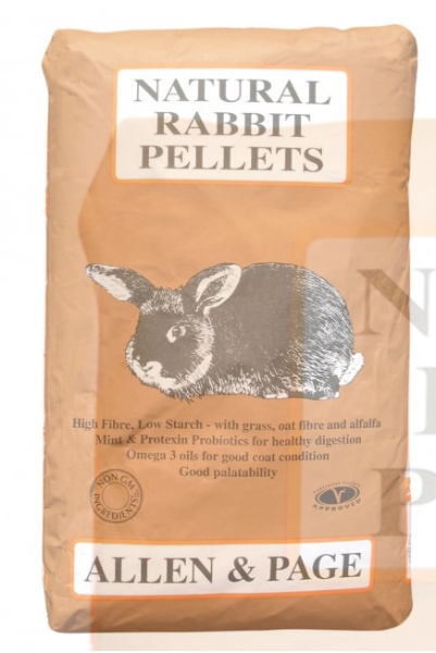 Picture of Allen and Page Natural Rabbit Pellets 20kg