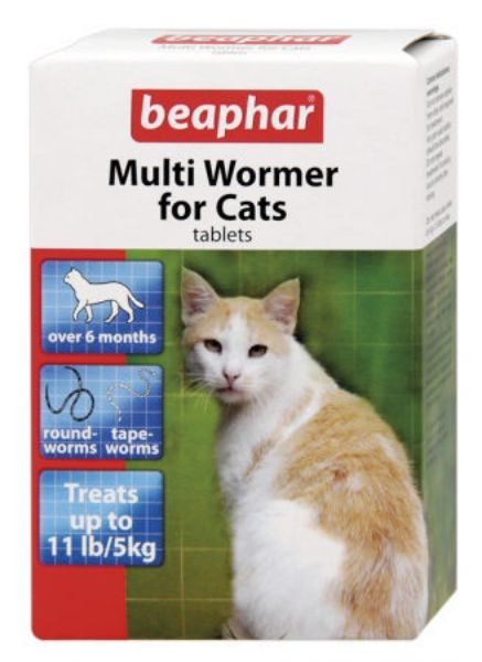 Picture of Beaphar Cat Multiwormer 12 Tablets