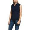 Picture of Ariat Womens Prix 2.0 Sleeveless Polo Navy