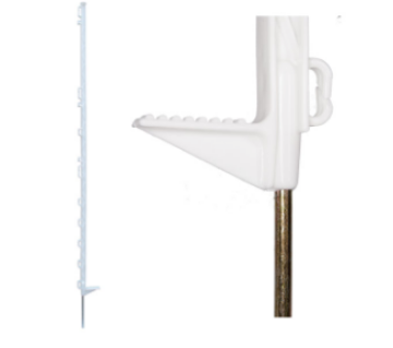 """Picture of Electric Fence Post White 53"""" (long)"""