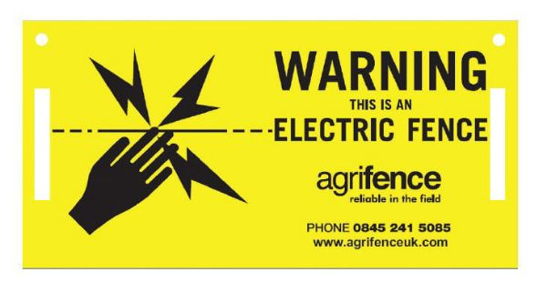 Picture of Agrifence Electric Fence Warning Signs 5 Pack