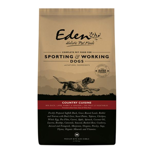 Picture of Eden Dog - 80/20 Country Cuisine Working Dog Small Kibble 15kg