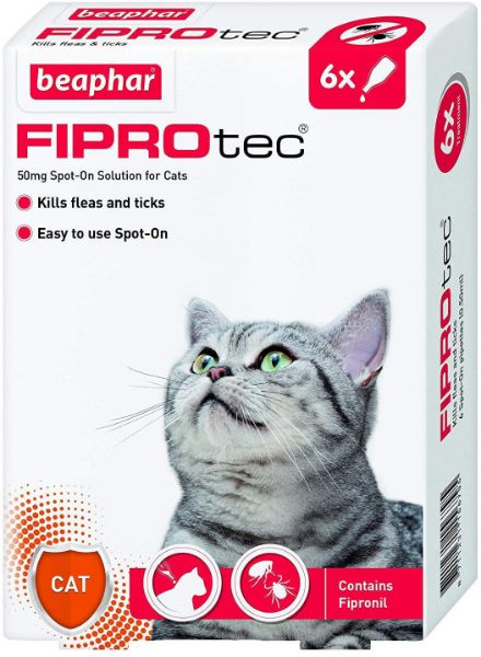 Picture of Beaphar Fiprotec Cat Spot On 50mg 6 Pipettes