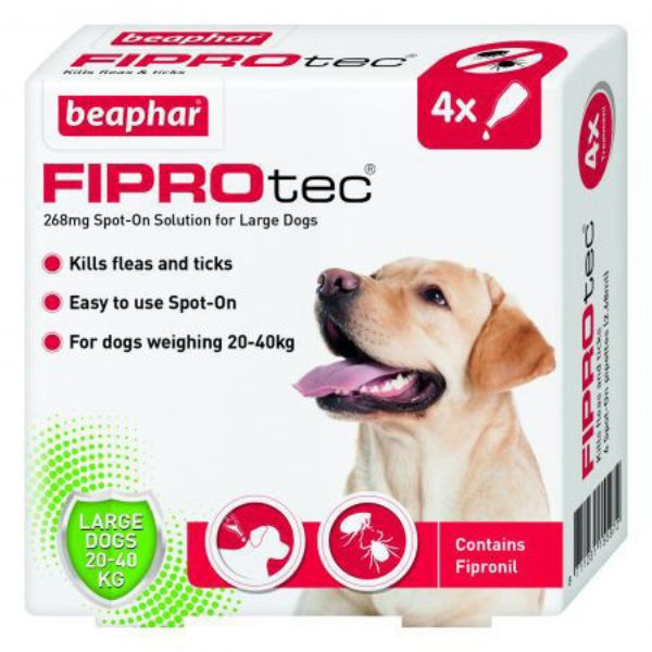 Picture of Beaphar Fiprotec Large Dog Spot On 268mg 4 Pipettes