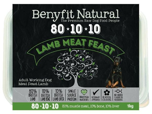 Picture of Benyfit Dog - Natural Lamb Meat Feast 80*10*10 1kg