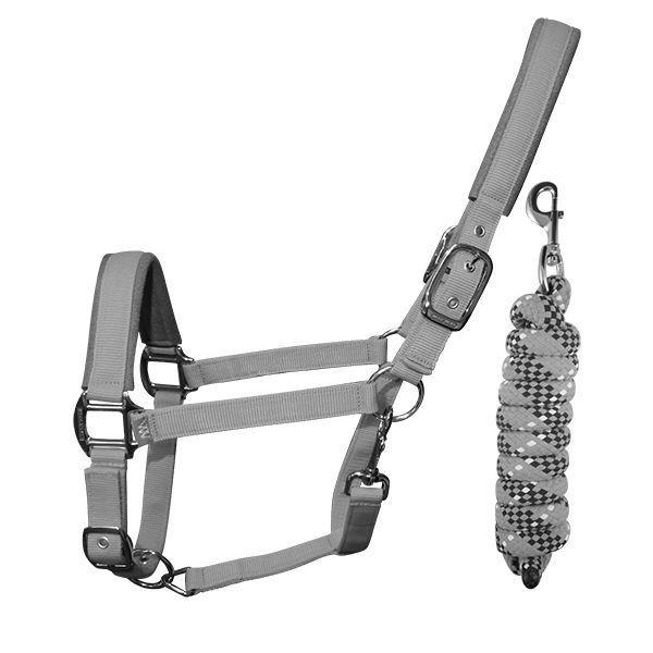 Picture of Woof Wear Headcollar & Leadrope Set Steel