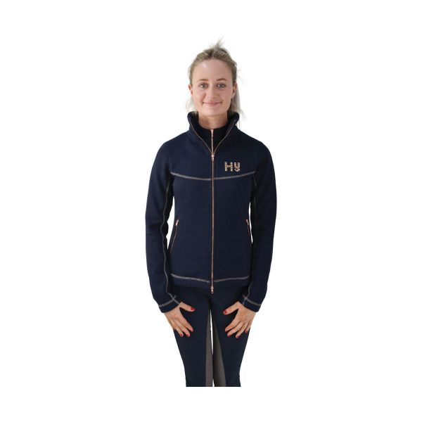 Picture of HyFashion Kensington Ladies Jacket Navy/Taupe/Rose Gold
