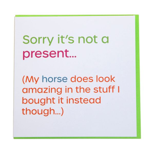 Picture of Gubblecote Foiled Greetings Card - Sorry Its Not A Present