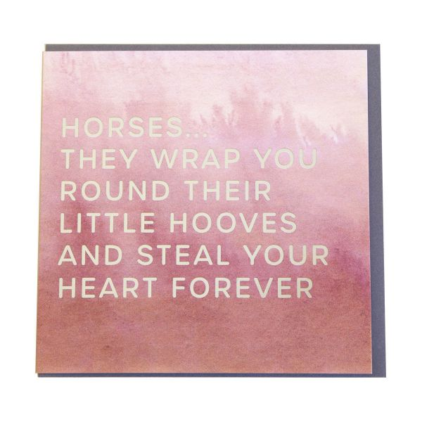 Picture of Gubblecote Foiled Greetings Card - Little Hooves