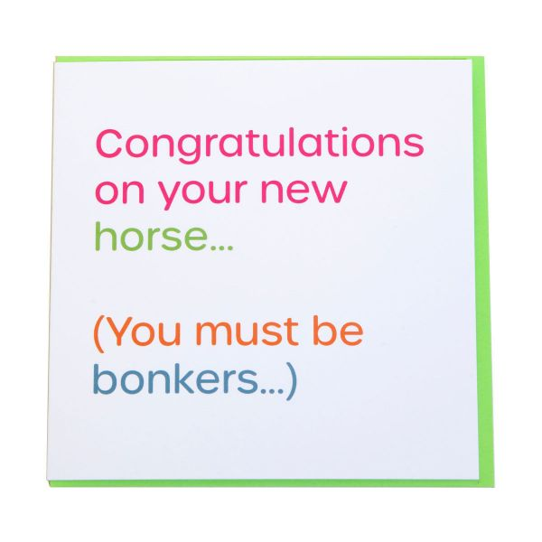 Picture of Gubblecote Humorous Greetings Card Bonkers