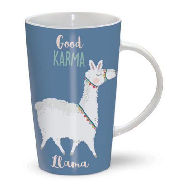 Picture of Otter House Latte Mug Good Karma Llama