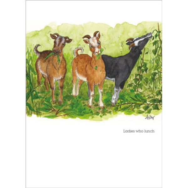 Picture of Alisons Animals Blank Card Ladies That Lunch