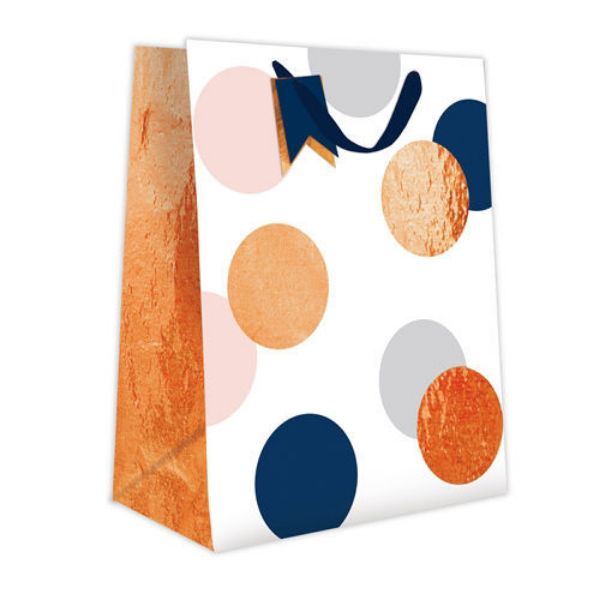Picture of Gift Bag Large - Spots And Foil