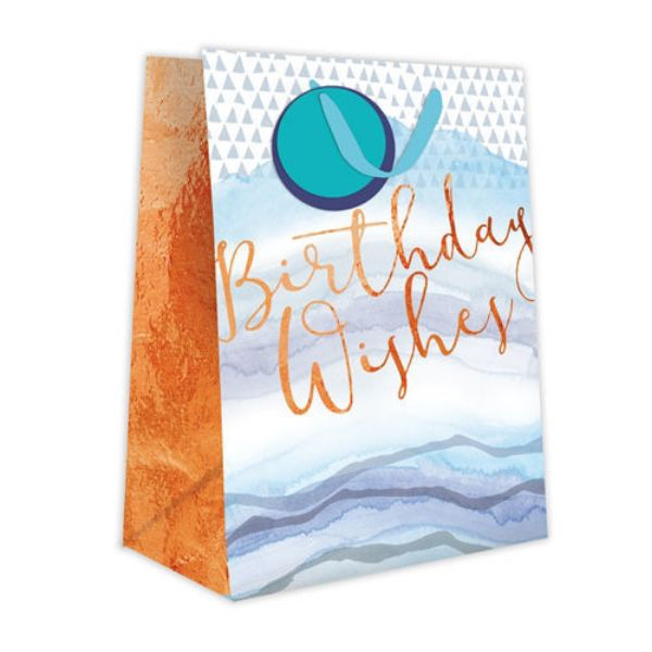 Picture of Gift Bag Medium - Birthday Wishes Blue Wave