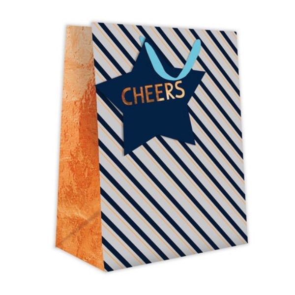 Picture of Gift Bag Medium - Cheers And Stripes