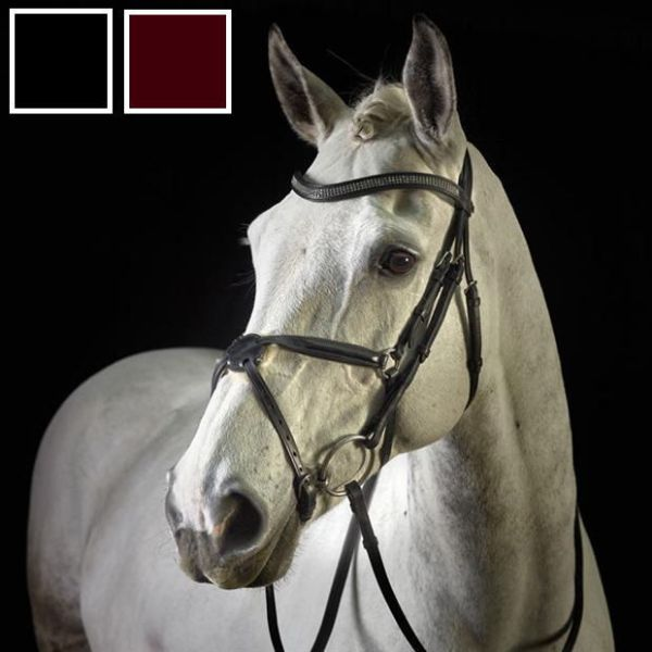 Picture of GFS Monarch Crystal Grackle Bridle With Rubber Reins