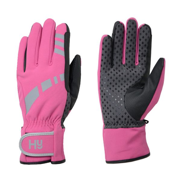 Picture of Hy Reflective Waterproof Multipurpose Gloves Hot Pink/Grey