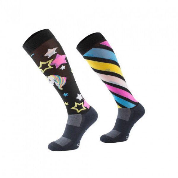 Picture of Black Unicorn Novelty Riding Socks 39-42