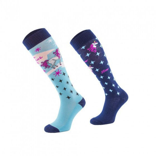 Picture of Blue Unicorn Novelty Riding Socks 39-42