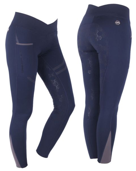 Picture of QHP Raquel Pull On Breech Anti-Slip Full Seat Navy