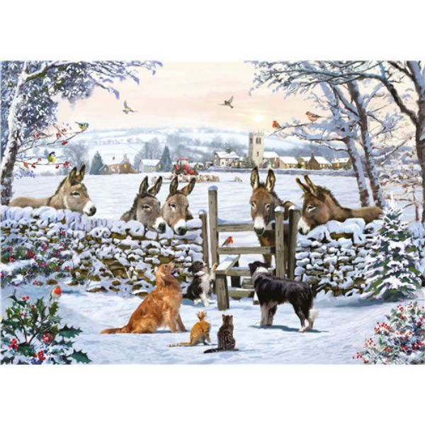 Picture of Otter House Jigsaw Rectangular 1000 Piece - Donkey Encounter