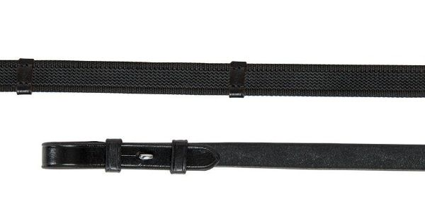 Picture of Aviemore Continental Rubber Grip Reins Black 54 X 5/8
