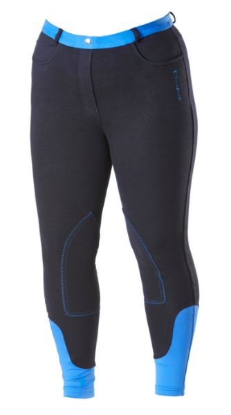 Picture of Firefoot Ladies Farsley Fleece Lined Breeches Navy/Impact Blue