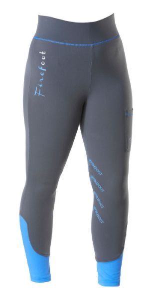 Picture of Firefoot Ladies Ripon Fleece Lined Breeches Charcoal/ Impact Blue