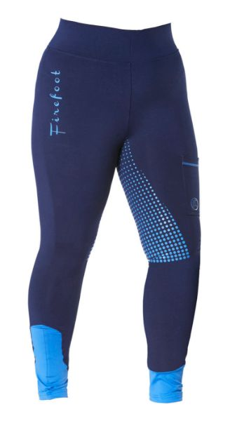 Picture of Firefoot Ladies Ripon Sticky Bum Breeches Navy/ Impact Blue