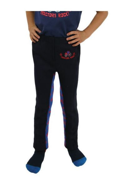 Picture of Hy Tractors Rock Tots Jodhpurs Navy/Royal Blue/Red