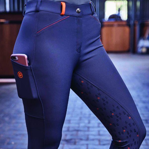 Picture of Dublin Gigi Full Grip Tech Breeches Asphalt