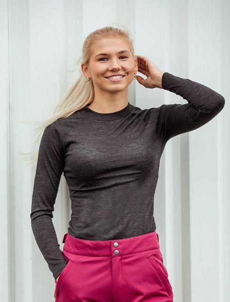 Picture of B Vertigo Roxie Women's Woolmix Underwear Shirt BL