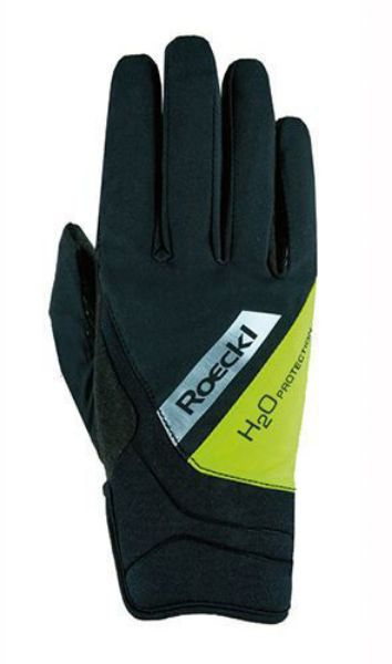Picture of Roeckl Sports Gloves Waregem Black/Yellow