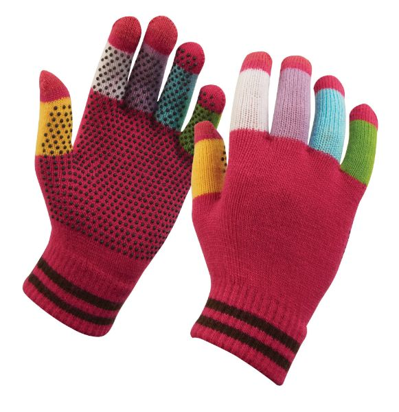 Picture of Dublin Magic Pimple Grip Riding Gloves Pink Multi One Size