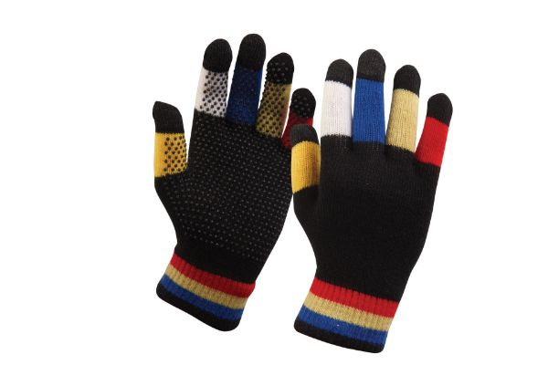 Picture of Dublin Childs Magic Pimple Grip Riding Gloves Black Multi One Size