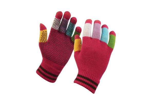 Picture of Dublin Childs Magic Pimple Grip Riding Gloves Pink Multi One Size