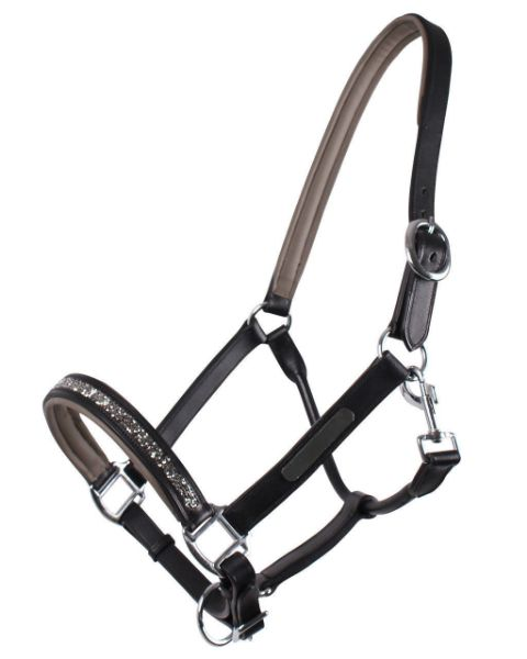 Picture of QHP Leather Headcollar Lupine Grey