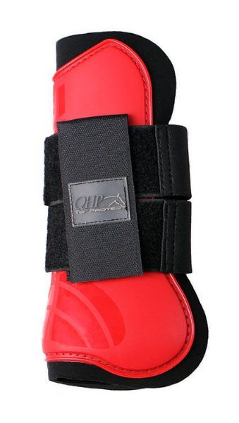 Picture of QHP Tendon Boots Bright Red