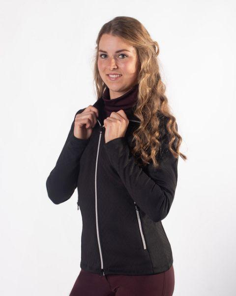 Picture of QHP Diamond Sweat Jacket Black