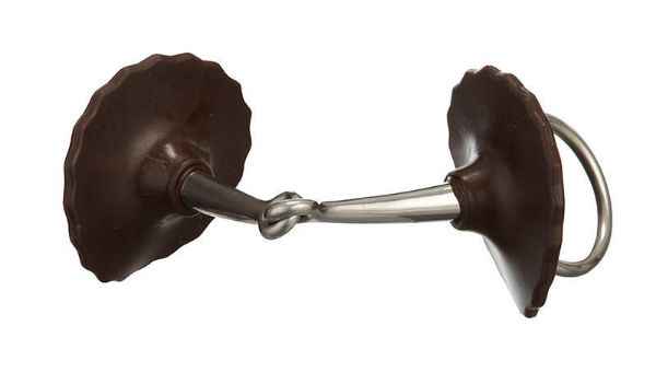 Picture of Acavallo Gel Bit Guards Brown
