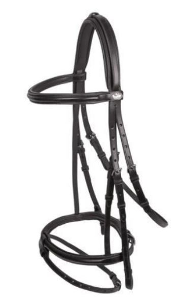Picture of Schockemohle Mannheim Snaffle Bridle Black/ Silver