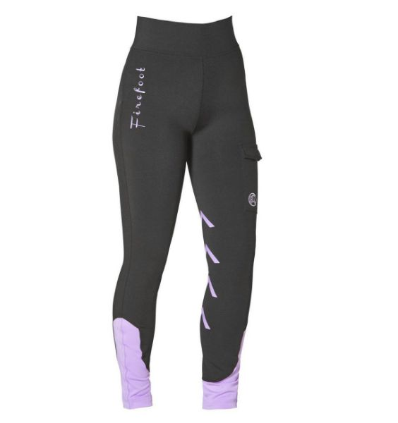 Picture of Firefoot Kids Ripon Breeches Black/Lilac