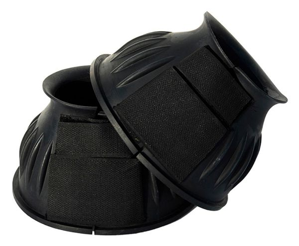 Picture of Rhinegold Velcro Over Reach Boots Black