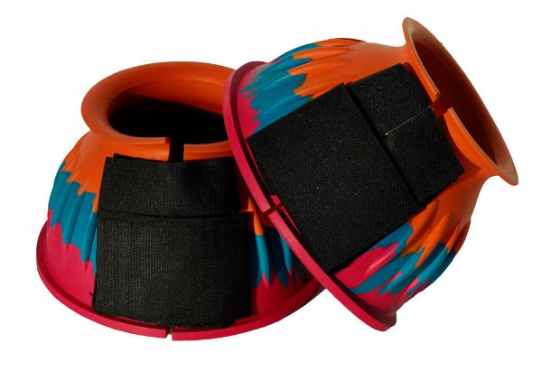 Picture of Rhinegold Velcro Over Reach Boots Bright