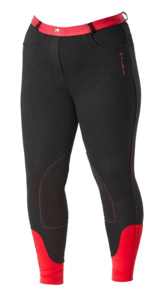 Picture of Firefoot Ladies Farsley Breeches Black/Red