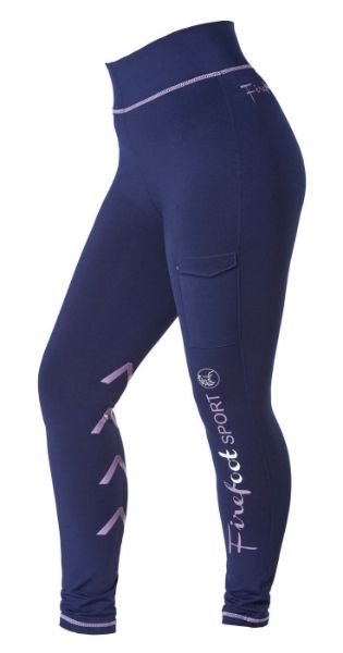 Picture of Firefoot Kids Ripon Sports Breeches Navy/Lilac