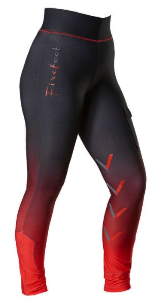 Picture of Firefoot Ladies Ripon Ombre Breeches Charcoal/Red
