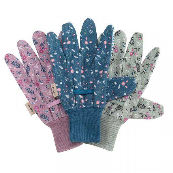 Picture of Smart Garden Briers Flower Field Cotton Grip Gloves Triple Pack