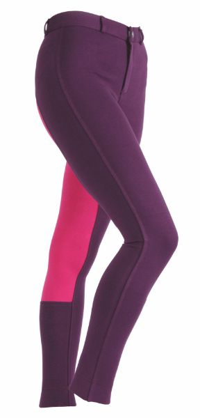 Picture of Shires Wessex Two Tone Jodhpurs Purple/Pink